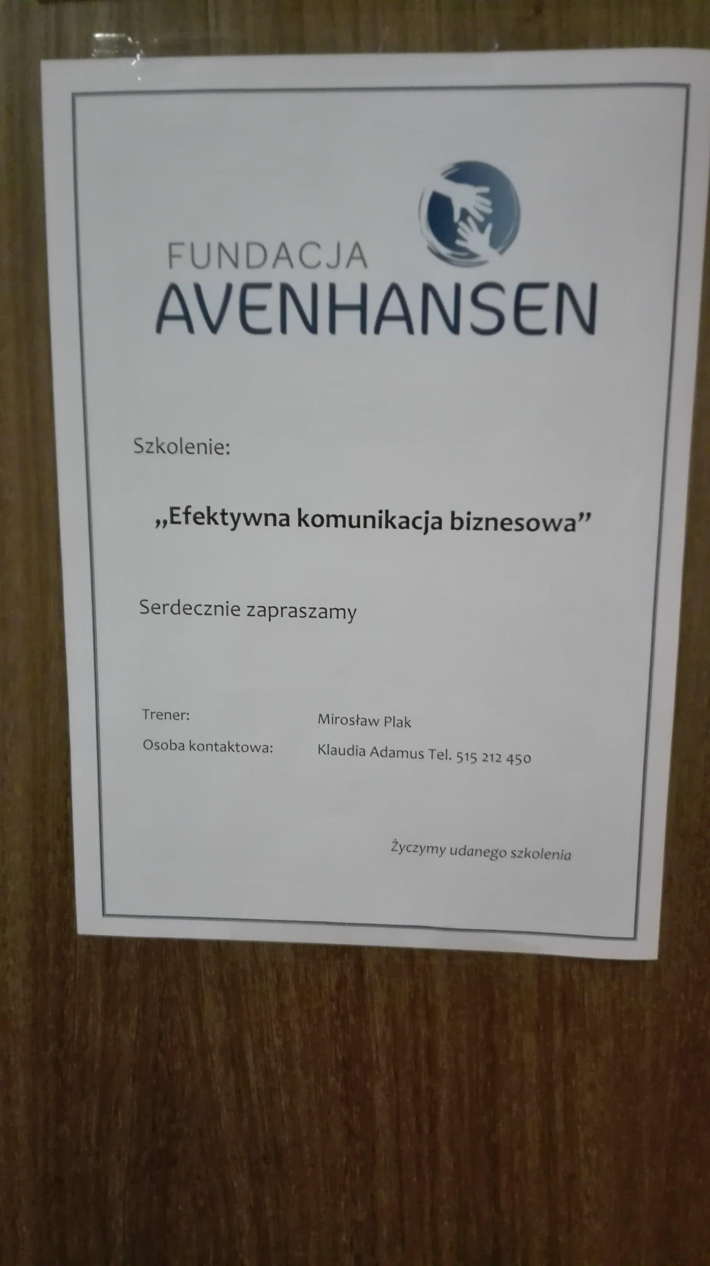 Fundacja AVENHANSEN Szkolenie 20 11 29 03